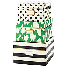 Buy kate spade new york Storage Boxes, Set of 3 Online at johnlewis.com