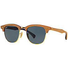 Buy Ray-Ban RB3016M Polarised Classic Clubmaster Polarised Sunglasses Online at johnlewis.com