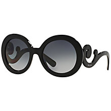Buy Prada PR27NS Polarised Round Framed Sunglasses Online at johnlewis.com