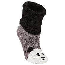 Buy John Lewis Christmas Panda Fluffy Bootie Socks, Multi Online at johnlewis.com