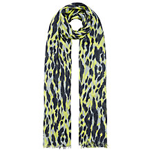 Buy Whistles Tyler Animal Print Scarf, Lime Online at johnlewis.com