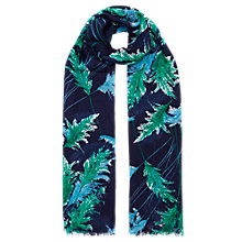 Buy Whistles Pampus Print Scarf, Navy Online at johnlewis.com