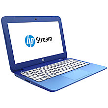 "Buy HP Stream 11 Laptop, Intel Celeron, 2GB RAM, 32GB Flash Storage, Windows 8.1 & Office 365, 11.6"" Online at johnlewis.com"