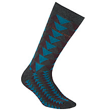 Buy Ted Baker Triangle Pattern Socks, One Size, Teal Online at johnlewis.com