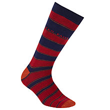 Buy Ted Baker Grad Stripe Organic Cotton Socks, One Size, Blue/Red Online at johnlewis.com