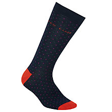 Buy Ted Baker Pin Dot Socks, One Size, Navy Online at johnlewis.com