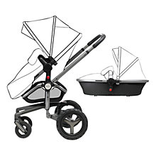 Buy Silver Cross Surf2 Pram Chassis, Seat and Carrycot, Black/Graphite Online at johnlewis.com