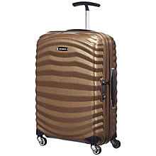 Buy Samsonite Lite-Shock Spinner 4-Wheel 55cm Cabin Suitcase Online at johnlewis.com