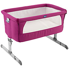 Buy Chicco Next To Me Crib, Fuchsia Online at johnlewis.com