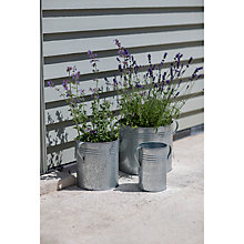 Buy Garden Trading Galvanised Planters, Set of 3 Online at johnlewis.com
