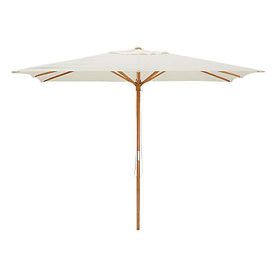 John Lewis Wooden Parasol, 2.5m, Oyster