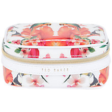 Buy Ted Baker Riche Floral Jewellery Case, White Online at johnlewis.com