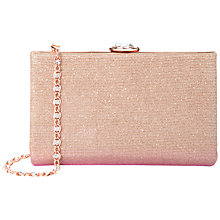 Buy Ted Baker Giselle Hard Case Glitter Clutch Bag, Dusky Pink Online at johnlewis.com