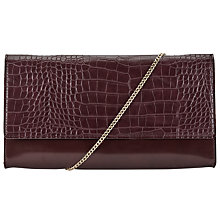 Buy John Lewis Ivy Foldover Clutch, Black Online at johnlewis.com