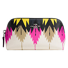 Buy Coach Small Leather Cosmetics Case, Multi Online at johnlewis.com