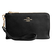 Buy Coach Polished Pebble Leather Wristlet Purse Online at johnlewis.com