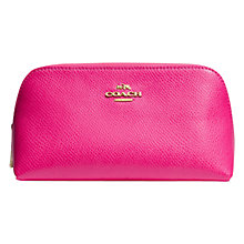 Buy Coach Small Leather Cosmetics Case Online at johnlewis.com