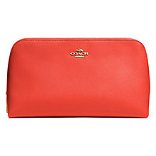 Buy Coach Medium Leather Cosmetic Case, Watermelon Online at johnlewis.com