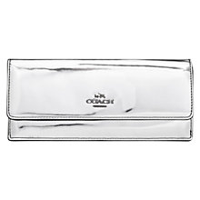 Buy Coach Soft Leather Metallic Wallet, Silver Online at johnlewis.com