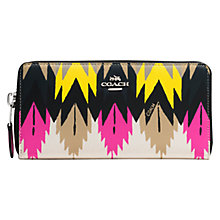 Buy Coach Leather Accordian Americana Print Zip Wallet, Multi Online at johnlewis.com