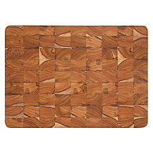 Buy John Lewis Teak End Grain Chopping Board Online at johnlewis.com