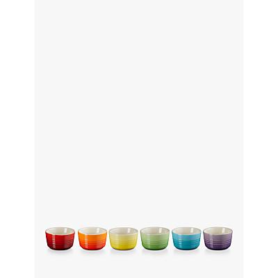 Le Creuset Rainbow Mini Ramekin, Set of 6