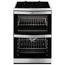 Buy AEG 49176IW-M Electric Cooker, Stainless Steel Online at johnlewis.com