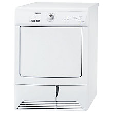 Buy Zanussi ZDCB37209W Condenser Tumble Dryer, 7kg Load, C Energy Rating, White Online at johnlewis.com
