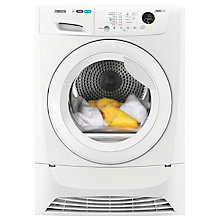 Buy Zanussi ZDC8203W Condenser Tumble Dryer, 8kg Load, B Energy Rating, White Online at johnlewis.com