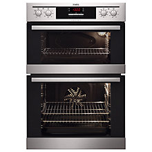 Buy AEG DC4013021M Electric Built-In Double Oven, Stainless Steel Online at johnlewis.com