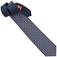 Buy Thomas Pink Owl Friend Printed Silk Tie, Navy Online at johnlewis.com