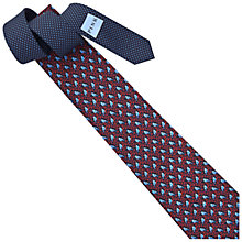 Buy Thomas Pink Bird On Branch Printed Silk Tie, Blue/Red Online at johnlewis.com