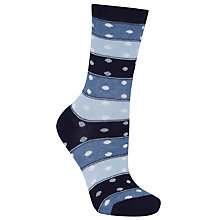 Buy John Lewis Domino Spot Ankle Socks, Pack of 1, Dark Navy Online at johnlewis.com