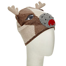 Buy John Lewis Deer Beanie Hat, Toast Online at johnlewis.com