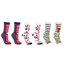 Buy John Lewis Christmas Pun Ankle Socks, Pack of 3, Multi Online at johnlewis.com