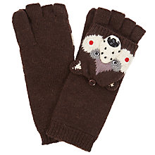 Buy John Lewis Bear Trapper Gloves, One Size, Brown Online at johnlewis.com