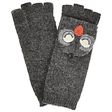 Buy John Lewis Snoozy Owl Trapper Gloves, One Size, Charcoal Online at johnlewis.com