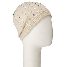 Buy John Lewis Beaded Crystal Beanie Hat Online at johnlewis.com