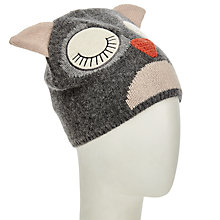 Buy John Lewis Snoozy Owl Beanie, Charcoal Online at johnlewis.com