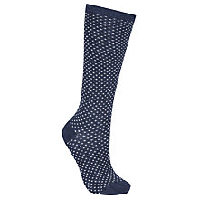 Buy John Lewis Diamond Spot Knee High Socks, Pack of 1 Online at johnlewis.com