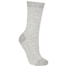 Buy John Lewis Cashmere Blend Rib Ankle Socks, One Size Online at johnlewis.com