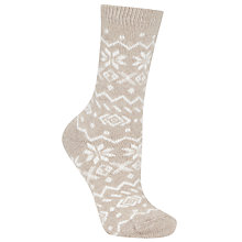 Buy John Lewis Cashmere Blend Snowflake Ankle Socks, Pack of 1 Online at johnlewis.com