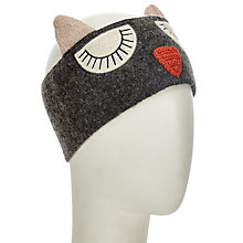 Buy John Lewis Snoozy Owl Headband, Charcoal Online at johnlewis.com
