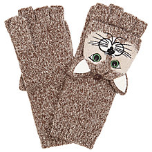 Buy John Lewis Cat Trapper Gloves, One Size, Taupe Online at johnlewis.com