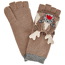 Buy John Lewis Deer Trapper Gloves, One Size, Toast Online at johnlewis.com