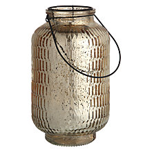 Buy John Lewis Mercurised Small Glass Lantern Online at johnlewis.com