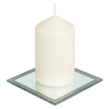 Buy John Lewis Glitter Mirror Small Candle Plate Online at johnlewis.com