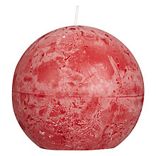 Buy John Lewis Rustic Effect Ball Candle, W14cm Online at johnlewis.com