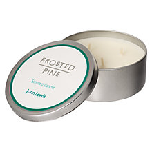 Buy John Lewis Frosted Pine Candle Tin Online at johnlewis.com