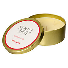 Buy John Lewis Winter Spice Candle Tin Online at johnlewis.com